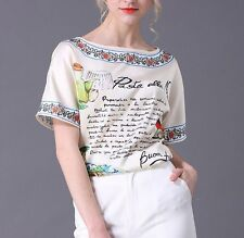 2017 spring & summer occident fashion printing T shirt free shipping nice cute