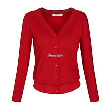Angvns Stylish Ladies Women Casual Long Sleeve V Neck Solid Button BF901