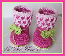Handmade Crochet HoneyComb Baby Boots / Baby Booties / Baby Winter Boots / Shoes
