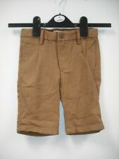 BNWOT Zara Brown Linen Shorts. Boys.  Age 4-14 Years