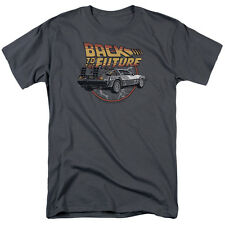 Back to the Future Movie Illustrated TIME MACHINE Delorean T-Shirt All Sizes
