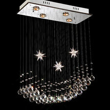 Luxury Crystal Ceiling Light Chandelier Flush Mount Lamp Pendant Light Hallway
