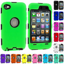 For Apple iPod Touch 4 / 4th Gen Hybrid Defender Slim Armor Impact Case Cover