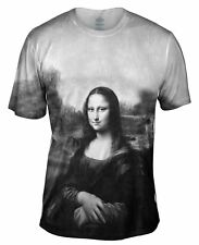 "Yizzam - Pop Art - ""Da Vinci Mona Lisa Black White""-  New Men Unisex Tee Shirt"