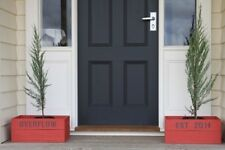 Apple Crate - Home Entrance - OVERFLOW EST 2011 in muted red with dark grey