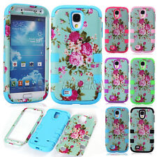 Flowers Skin 2 Layer Hybrid Impact Rugged Matte Cases Cover for Various Phones