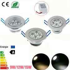 1/10X Dimmable 9/12/15W LED Ceiling Recessed Lamp Down Lights Warm/Cool White