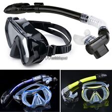 Scuba Diving - Diving Mask Snorkel Glasses Set Silicone Swimming Pool WT89