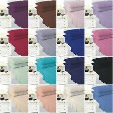 Flat Bed Sheets Easy Care Plain Dyed Polycotton Single Double King Superking