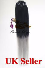 """20"""" Indian Premier Remy Loop Micro Ring 100% Human Hair Extensions 5A UK 1st"""