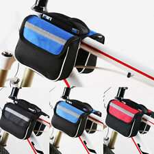 600D Cycling Bike Bicycle Front Tube Bag with rain cover Black Trame Pannier