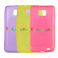DIAMOND TPU SILICONE GEL BACK COVER CASE FOR SAMSUNG GALAXY S2 i9100 i9103