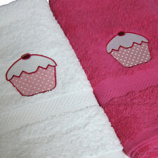 Personalised Cupcake Crazy Bath Towel, Embroidered, Add Name Or Initials