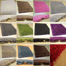 SMALL - EXTRA LARGE SIZE  PLAIN MODERN NON-SHED THICK 5cm PILE SOFT SHAGGY RUG