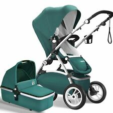 New Baby stroller 3 in 1 leather Carriage Infant Travel Foldable Pram pushchair