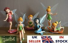 £1.99 - £7.49 Disney Tinkerbell fairies set of six or single figure cake toppers