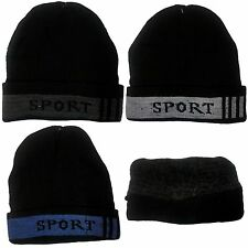 New Adults' Mens Unisex Beanie Winter Warm Knit  Beanie Hat Cap Fleece Lined