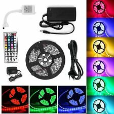 1-30M RGB 5050 SMD waterproof 300 LED Light Strip Flexible + IR Remote 12V power