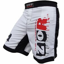 XTreme MMA Fight Shorts UFC Cage Fight Grappling Muay Thai Boxing WHITE