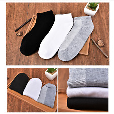 1 Pairs Mens Summer Ankle Socks Low Cut Crew Casual Sport Cotton Socks US Stock