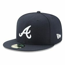 Atlanta Braves 2017 59Fifty Authentic Fitted Performance Road MLB Baseball Cap