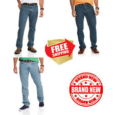 Faded Glory Mens Original Regular Fit Jeans Cotton Straight Legs Pants Brand New