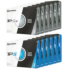 2017 TaylorMade TP5 or TP5X 6 Dozen Golf Balls - Authorized Retailer - Brand New