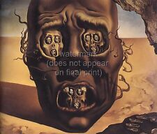 "SALVADOR DALI Surrealism Art Painting Poster or Canvas Print ""The Face of War"""
