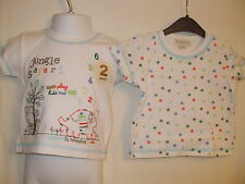 Baby Boys Jungle Safari & Spot Two Pack Short Sleeved T-Shirts - Various