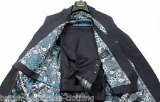 TED BAKER Navy 3 PIECE Timeless SUPER 100% Wool Suit + Suit Carrier UK38R BNWoT