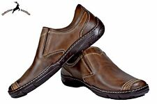 Mens Buffalo Leather Driving Moccasins Brown Handmade Casual Loafers Slip Shoes