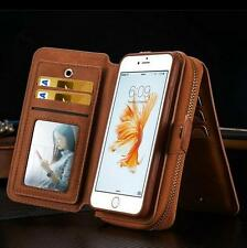 Genuine magnetic flip Leather Purse Card Wallet Case Pouch For iPhone 7 6S Plus