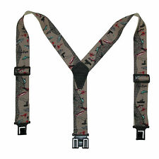 New Perry Suspenders Men's Elastic Hook End Fisherman Suspenders (Tall
