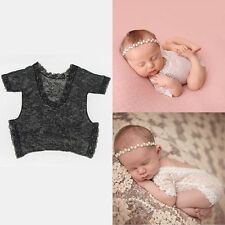 Hot Newborn Baby Girl Lace Floral Romper Bodysuit Photo Props Photography Outfit