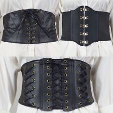 WOMENS LADIES LACE UP TIE UP EYELET HIGH WAIST WAISTBAND CORSET  BELT ONE SIZE
