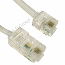 Short 0.5m, 50cm White RJ11 to RJ45 Ethernet 4 pin 8P4C 6P4C ASDL Patch Lead.