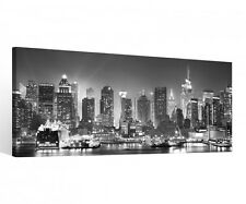 Canvas 1 Pieces New York Black White Skyline City USA Pictures Wall 9C118