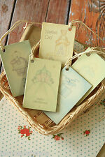 East of India printed Gift Tags shabby chic CHRISTENING new BABY greetings theme