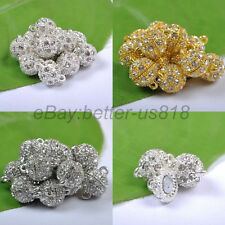 5Sets 10Sets 20Sets GOLD & SILVER PLATED Crystal POWERFUL MAGNET CLASPS 8MM 10MM