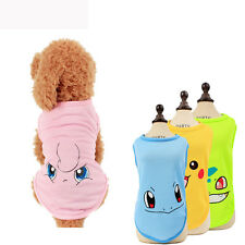 Mesh Breathable Small Dog Vest Face Printing Dog T shirts Pet Summer Clothes