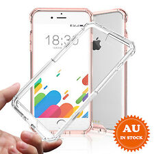 For iPhone 6S 7&7 Plus Hybrid Shockproof Clear TPU Hard Skin Soft Bumper Cover