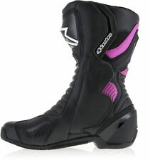 New Alpinestars Stella SMX S-MX 6 V2 Ladies Black / Pink Boots - Pink
