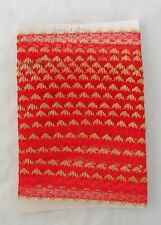 Eyelet Knitting in Lace Dovecraft / Habico 5 yds x 35mm wide Red. 6 Available.