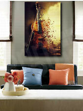 Old Decaying Violin Music Abstract Art Canvas Poster Print Wall Decor