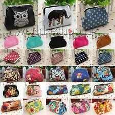 Retro Small Wallet Change Coin Purse Hasp Clutch Card Holder Organizer Handbag