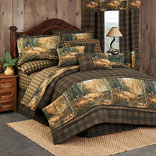 Whitetail Birch Deer Comforter Set with Sheet and Curtain Options!