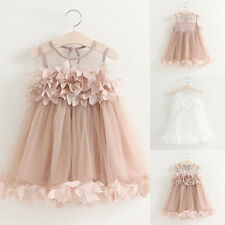 Toddler Kids Baby Girls Princess Party Pageant Wedding Tulle Tutu Flower Dresses