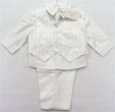 Baby/Infant Boys Christening/Occasion/Formal White 4 Pce Suit (DC1516)