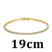Women Fashion Crystals Chain & Link Rose Gold Plated Jewelry Bracelet