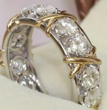 Diamond 10kt White & Yellow Gold Engagement Wedding Ring for Women